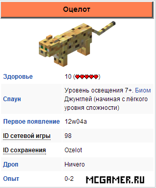 Оцелот Minecraft