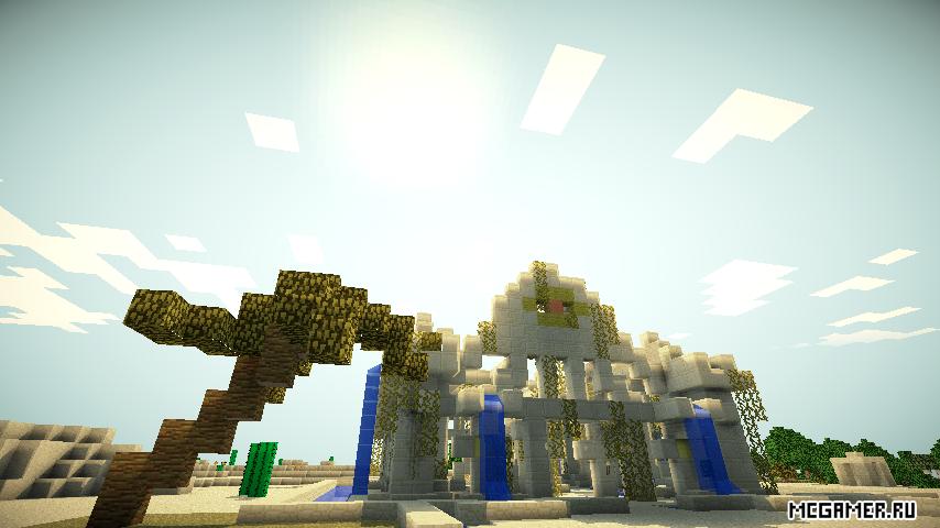 Водно-песчаная постройка в пустыне