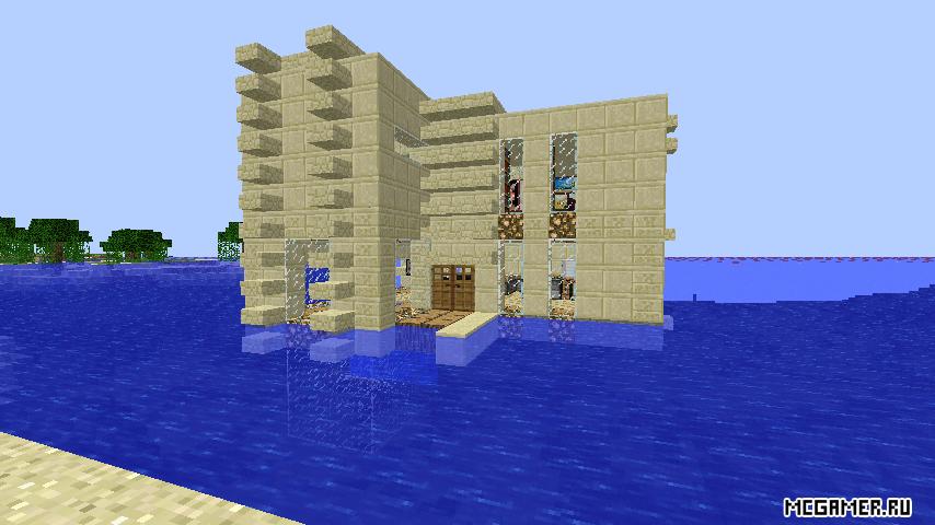 Современный дом на воде