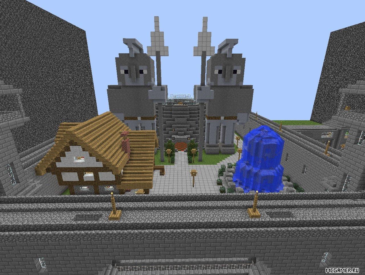 Постройка Замка в Minecraft