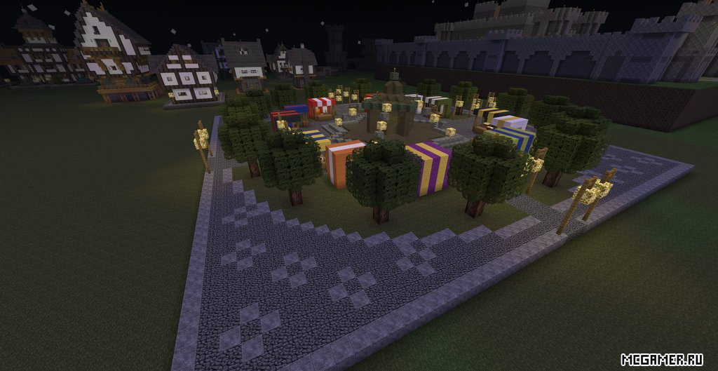 Площадь с магазинами