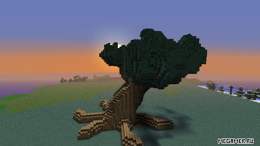 Огромное дерево для minecraft.