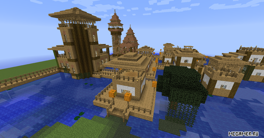 Деревня для minecraft, которая