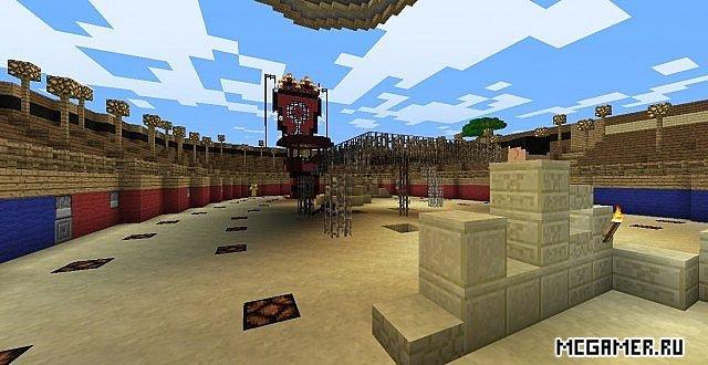 Пвп арена карта для minecraft