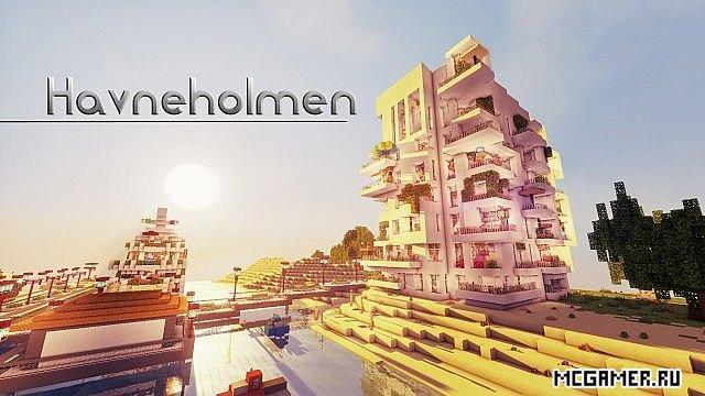 Схема корабль+мотель у берега