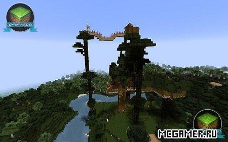 карта дом дереве майнкрафт 1 5 2